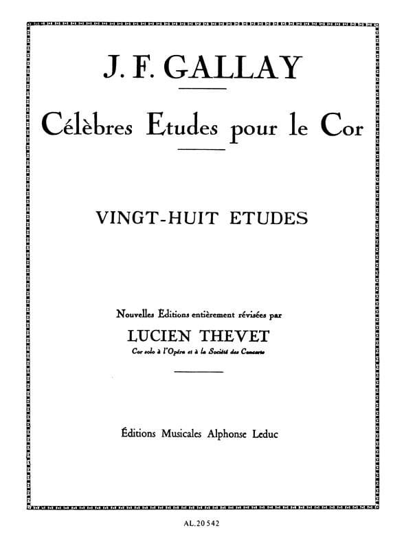 28 Etudes Opus 13 - Jacques-François Gallay - laflutedepan.com