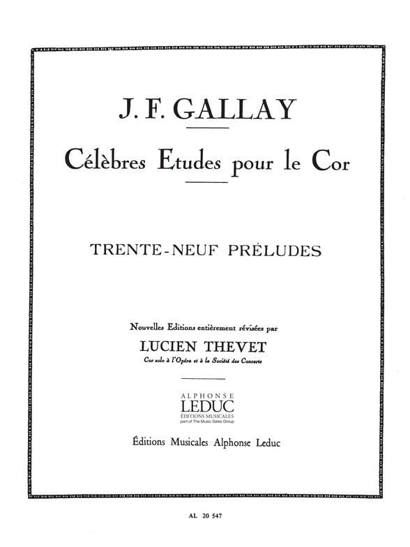 Jacques-François Gallay - 39 Preludes Opus 27 - Partition - di-arezzo.co.uk