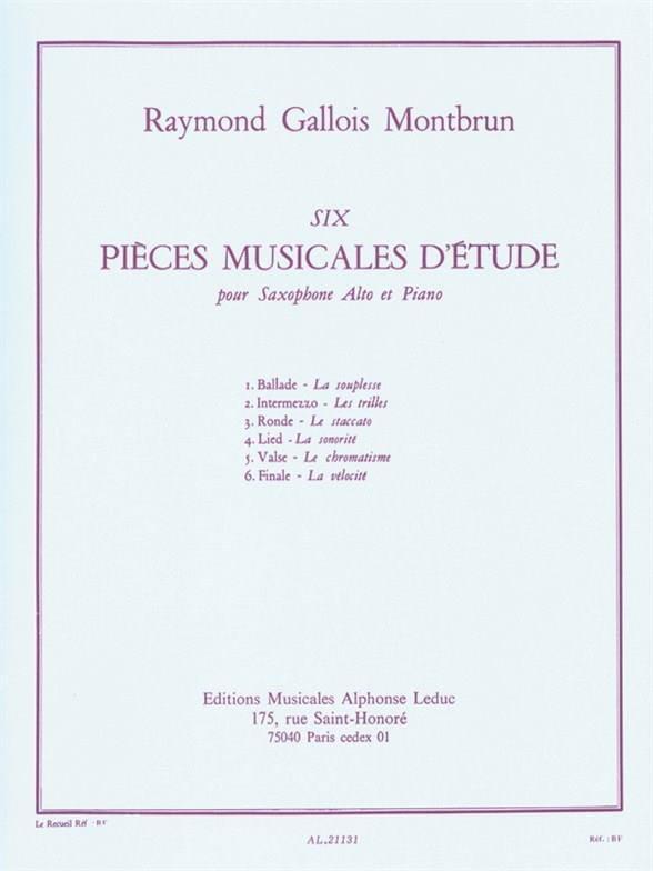 6 Pièces musicales d'étude - laflutedepan.com