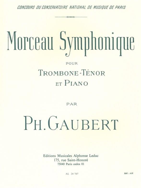 Philippe Gaubert - Symphonic piece - Partition - di-arezzo.co.uk