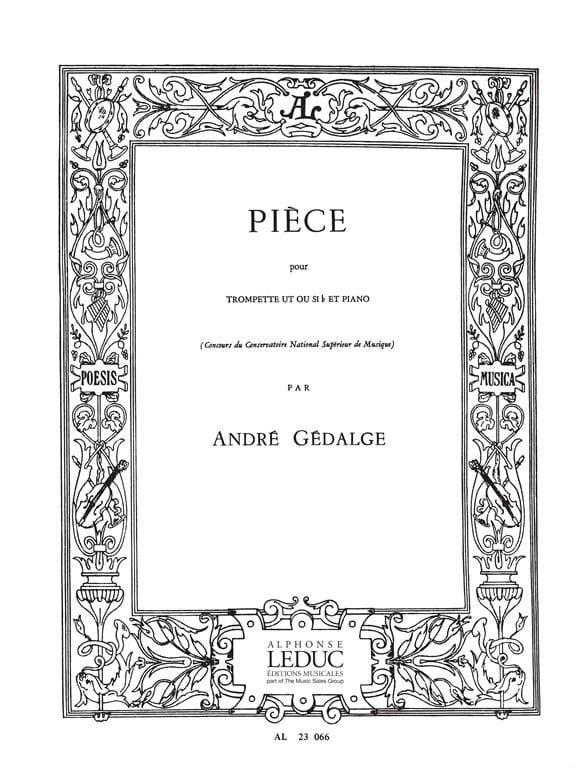 Pièce - André Gédalge - Partition - Trompette - laflutedepan.com