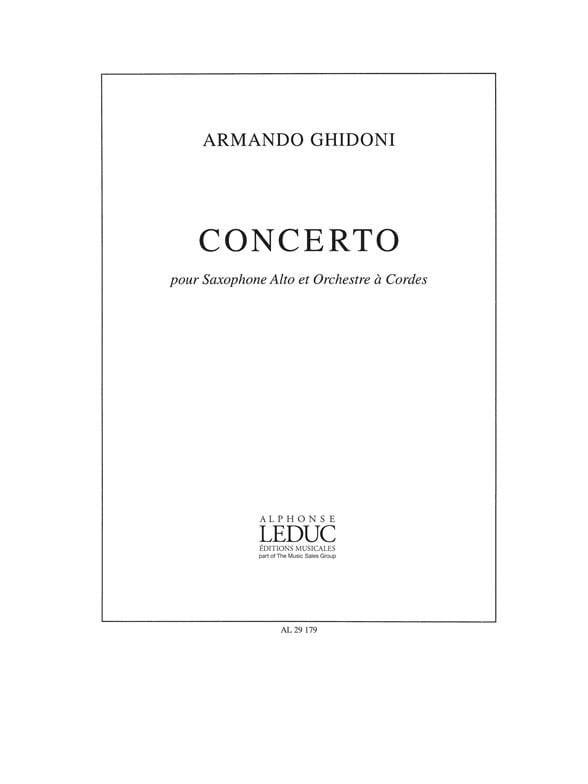 Armando Ghidoni - Concerto - Partition - di-arezzo.co.uk