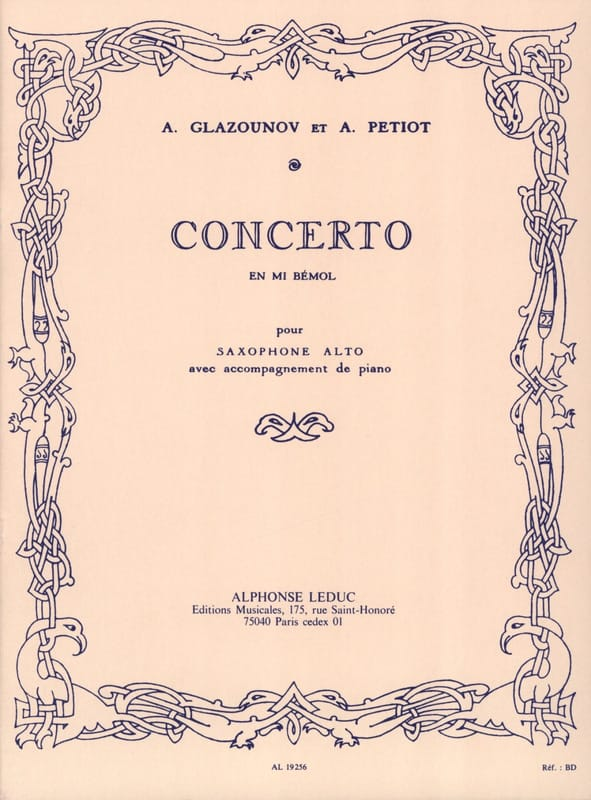 Alexander Glazounov - Concerto In E Flat - Partition - di-arezzo.co.uk