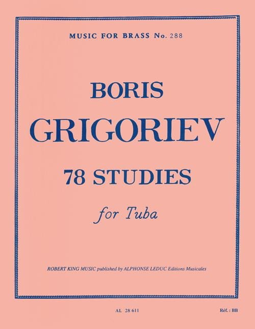 78 Studies - Boris Grigoriev - Partition - Tuba - laflutedepan.com