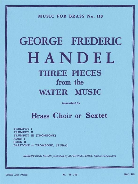 3 Pieces From Water Music - HAENDEL - Partition - laflutedepan.com