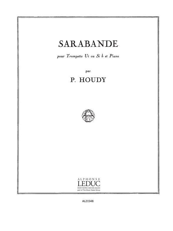 Sarabande - Pierick Houdy - Partition - Trompette - laflutedepan.com