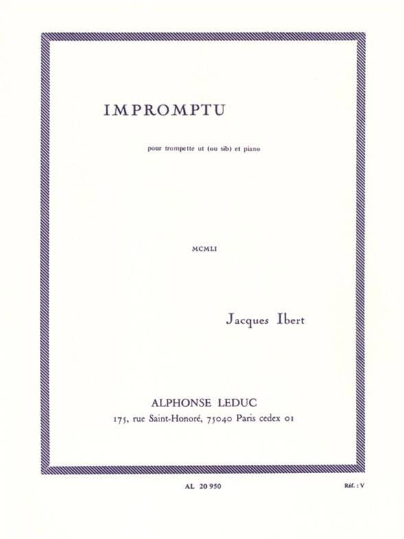 Jacques Ibert - Impromptu - Partition - di-arezzo.co.uk