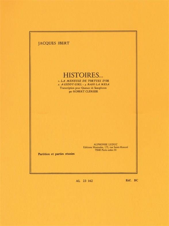 Jacques Ibert - stories - Partition - di-arezzo.co.uk