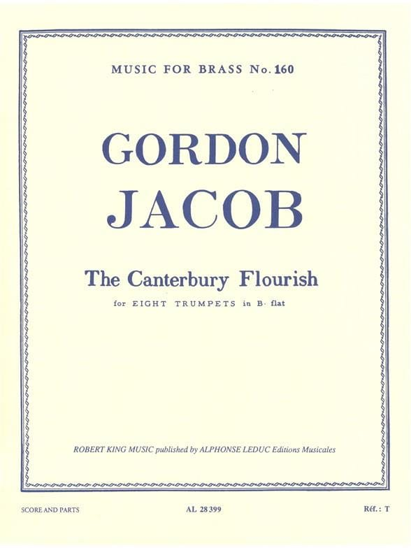 Gordon Jacob - Canterbury Flourisch - Partition - di-arezzo.com