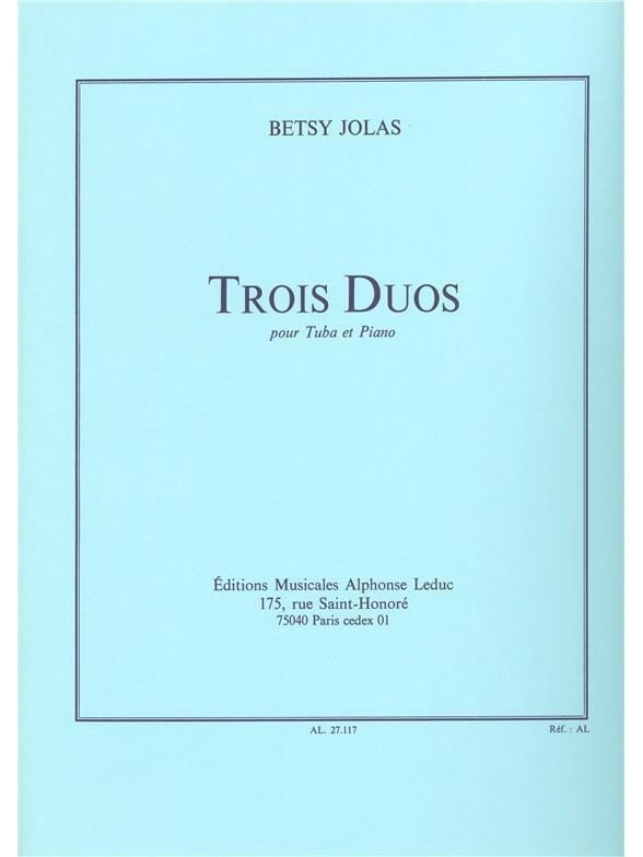 Betsy Jolas - 3 Duos - Partition - di-arezzo.co.uk