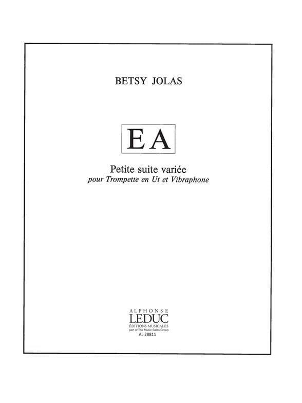 E A - Petite Suite Variée - Betsy Jolas - Partition - laflutedepan.com