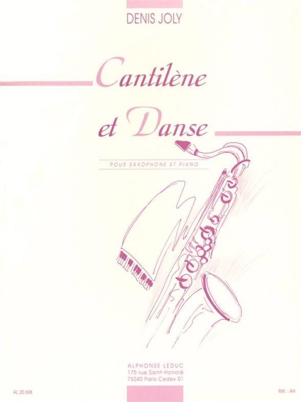 Cantilène Et Danse - Denis Joly - Partition - laflutedepan.com
