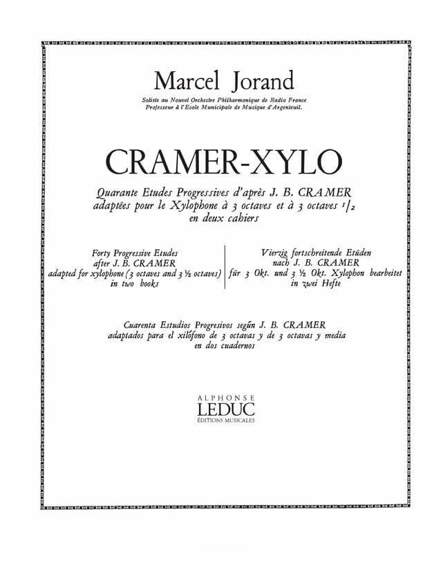 Marcel Jorand - 40 Studies According to Cramer Volume 1 - Partition - di-arezzo.com