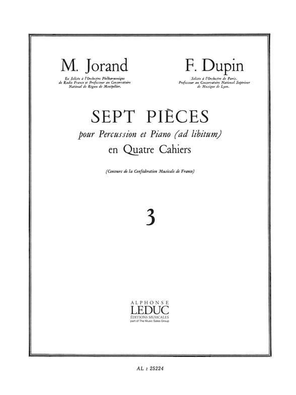 7 Pièces Volume 3 - Jorand M. / Dupin F. - laflutedepan.com