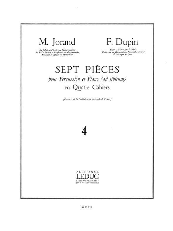 7 Pièces Volume 4 - Jorand M. / Dupin F. - laflutedepan.com