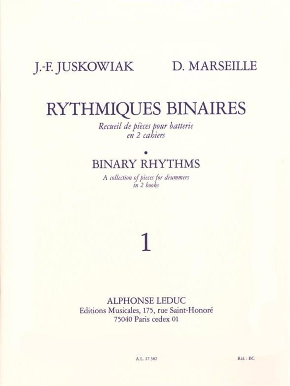 Juskowiak / Marseille - Rhythmic Binary Volume 1 - Partition - di-arezzo.com
