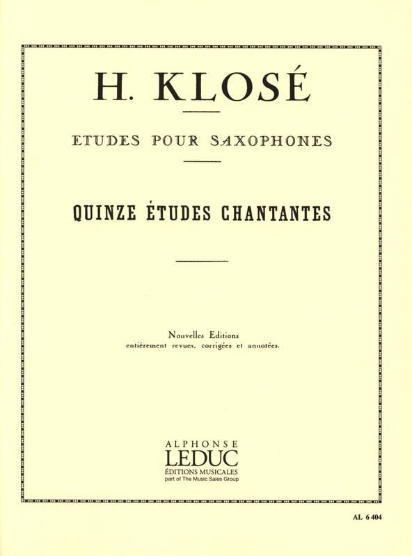 15 Etudes Chantantes - Hyacinthe Eléonore Klosé - laflutedepan.com