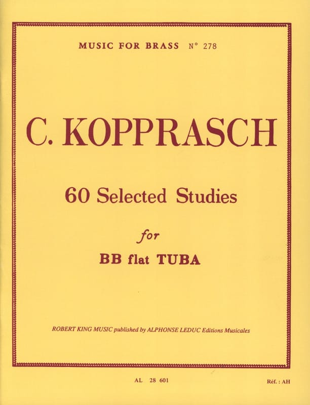 Georg Kopprasch - 60 Selected Studies - Partition - di-arezzo.co.uk