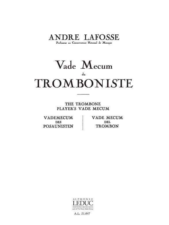André Lafosse - Vade Mecum du Tromboniste - Partition - di-arezzo.fr