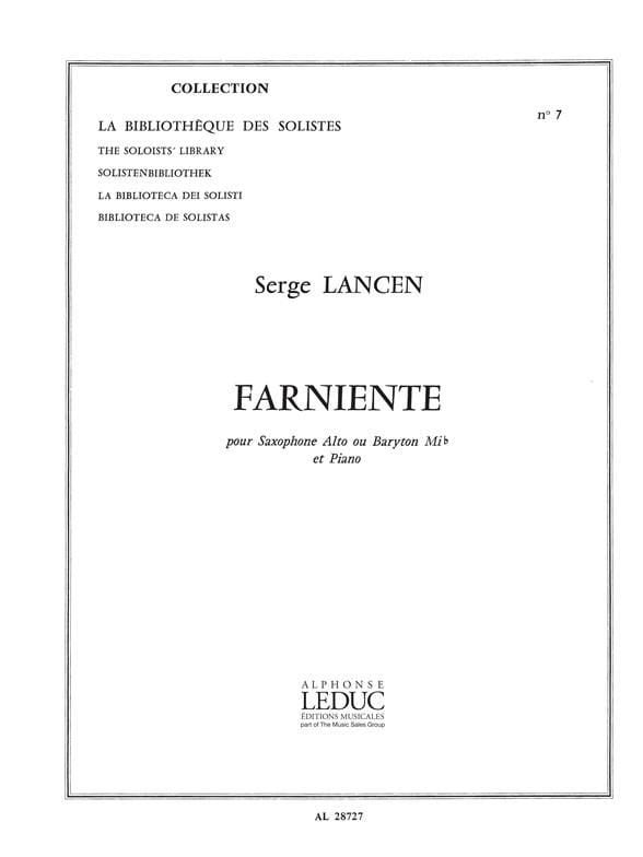 Serge Lancen - lazing - Partition - di-arezzo.co.uk