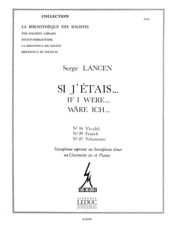 Serge Lancen - If J 'Etais ... 19, 20, 21 - Partition - di-arezzo.co.uk