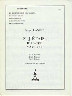 Serge Lancen - If J 'Etais ... 22, 23, 24 - Partition - di-arezzo.co.uk