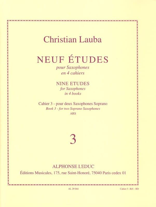 Christian Lauba - 9 Studies Volume 3 - Partition - di-arezzo.com