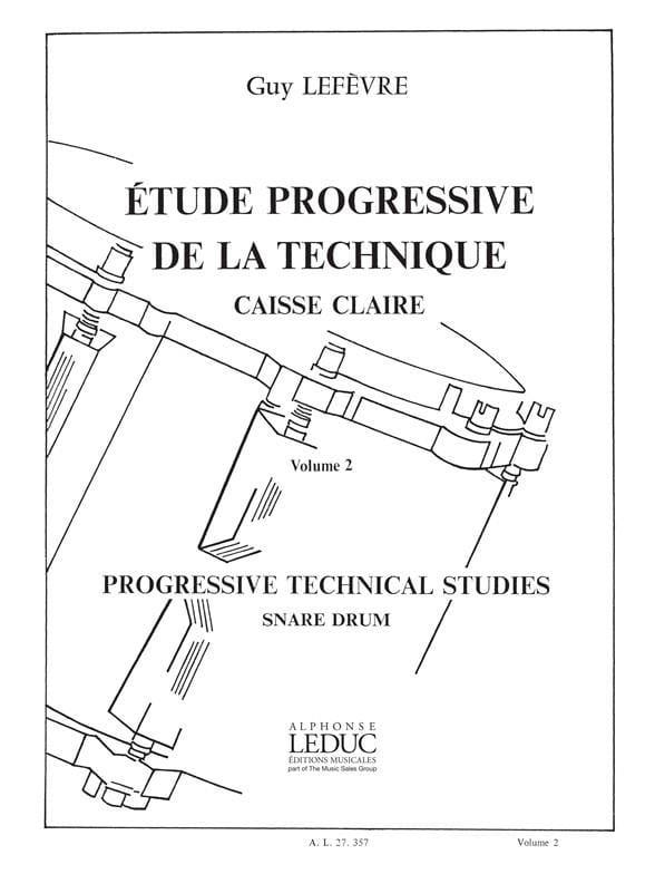Guy Lefèvre - Progressive Study of Technique - Volume 2 - Partition - di-arezzo.co.uk