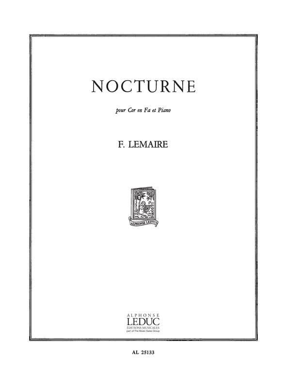 Nocturne. Cor - Félix Lemaire - Partition - Cor - laflutedepan.com