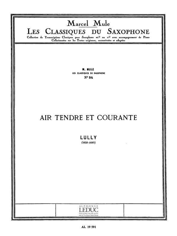 Air Tendre et Courante - LULLY - Partition - laflutedepan.com