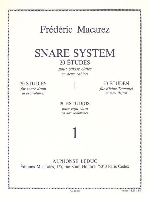 Frédéric Macarez - Snare System Band 1 - 20 Studien - Partition - di-arezzo.de