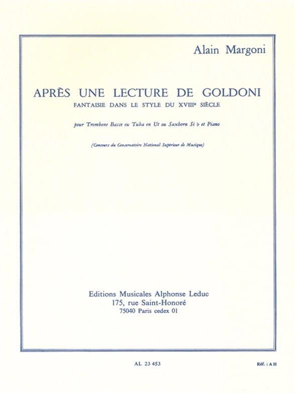 Alain Margoni - After a Goldoni Lecture - Partition - di-arezzo.com