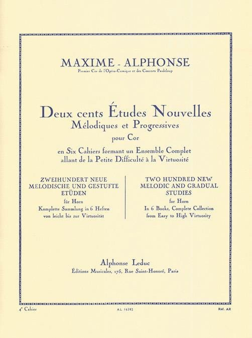 Maxime-Alphonse - 200 Studies News Volume 4 - Partition - di-arezzo.co.uk