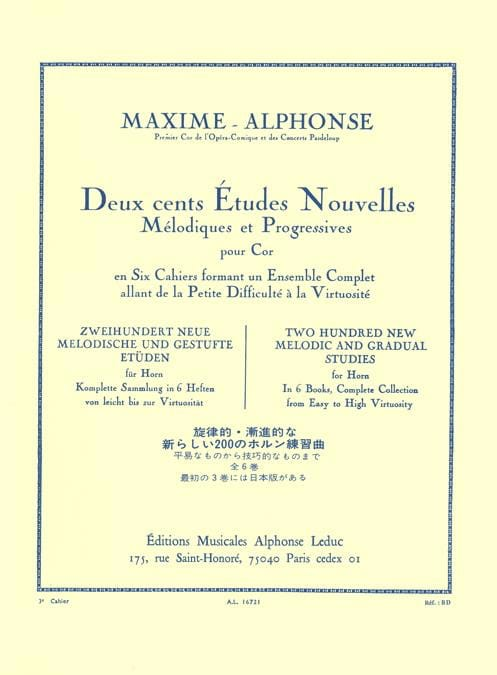 Maxime-Alphonse - 200 Studies News Volume 3 - Partition - di-arezzo.co.uk