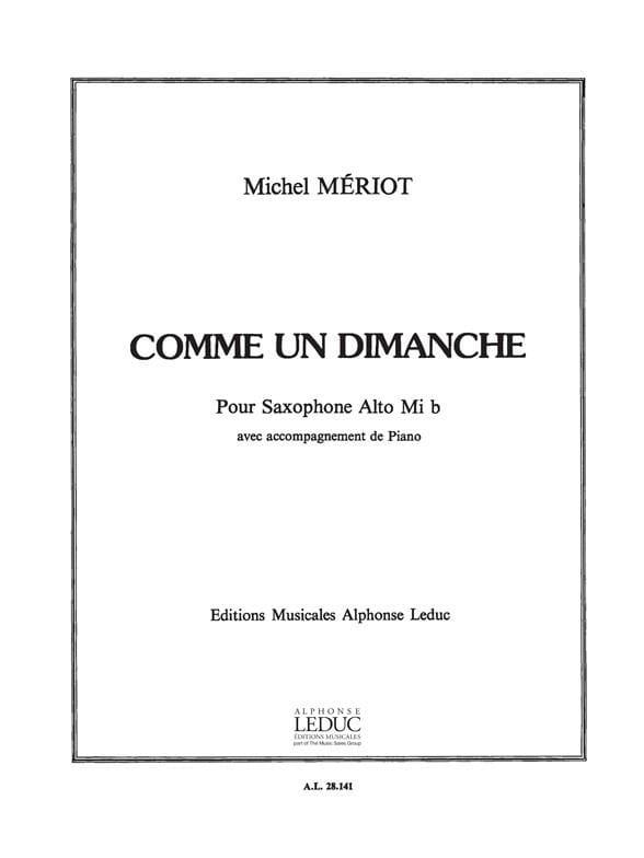 Comme Un Dimanche - Michel Mériot - Partition - laflutedepan.com
