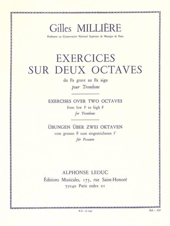 Gilles Millière - Ejercicios en 2 octavas - Partition - di-arezzo.es