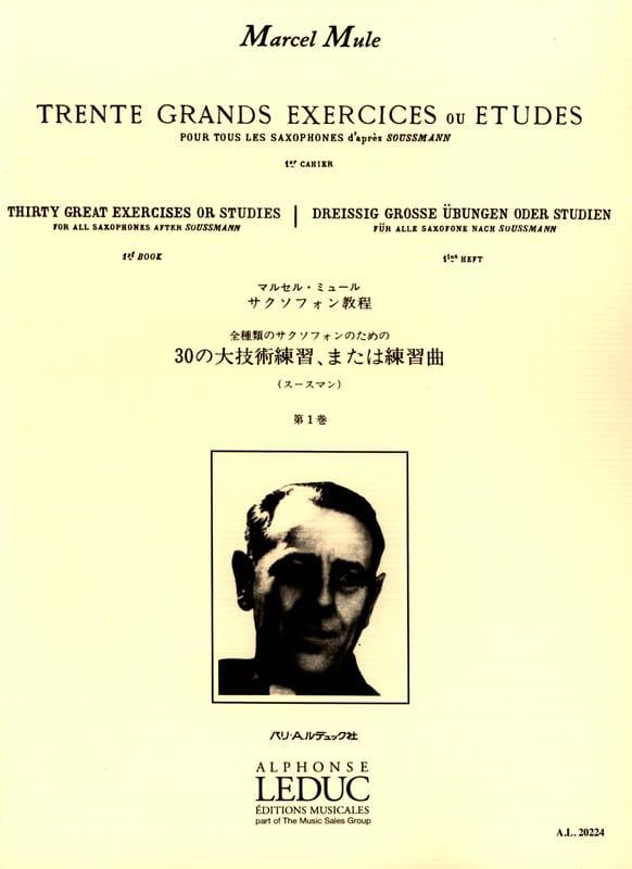 Marcel Mule - 30 Great Exercises or Studies After Soussman Volume 1 - Partition - di-arezzo.com
