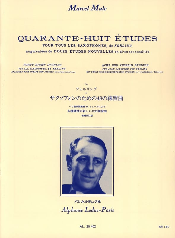 Franz Wilhelm Ferling - 48 Etudes - Nouvelles Edition By Marcel Mule - Partition - di-arezzo.co.uk