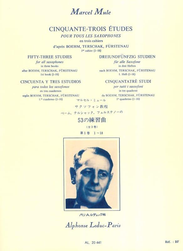 Marcel Mule - 53 Studies After Boehm, Terschak, Fürstenau Volume 1 1-18 - Partition - di-arezzo.co.uk