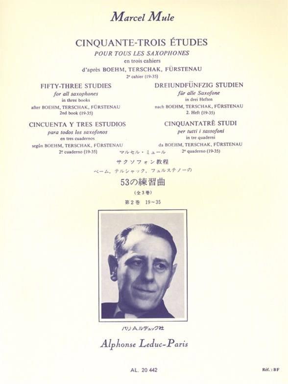 Marcel Mule - 53 Studies After Boehm, Terschak, Fürstenau Volume 2 19-35 - Partition - di-arezzo.co.uk