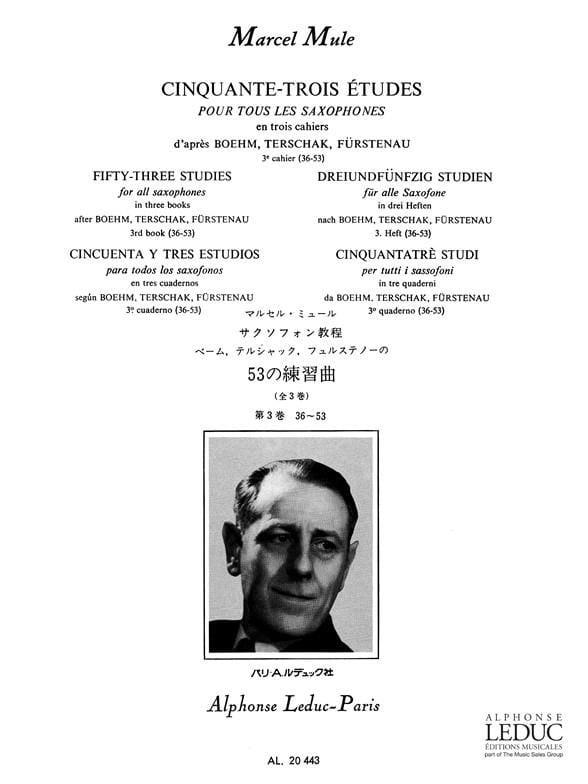 Marcel Mule - 53 Studies After Boehm, Terschak, Fürstenau Volume 3 36-53 - Partition - di-arezzo.co.uk