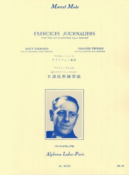Marcel Mule - Daily Exercises After Terschak - Partition - di-arezzo.co.uk