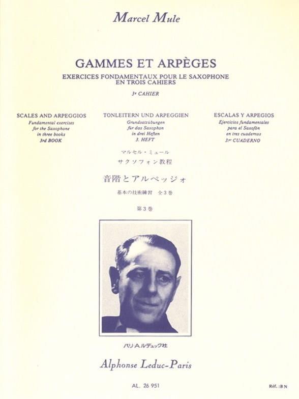 Marcel Mule - Ranges and Arpeggios Volume 3 - Partition - di-arezzo.co.uk