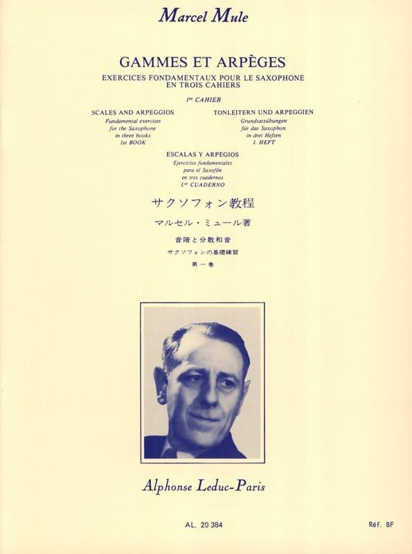 Marcel Mule - Ranges and Arpeggios - Volume 1 - Partition - di-arezzo.co.uk