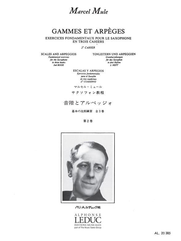 Marcel Mule - Ranges and Arpeggios Volume 2 - Partition - di-arezzo.co.uk