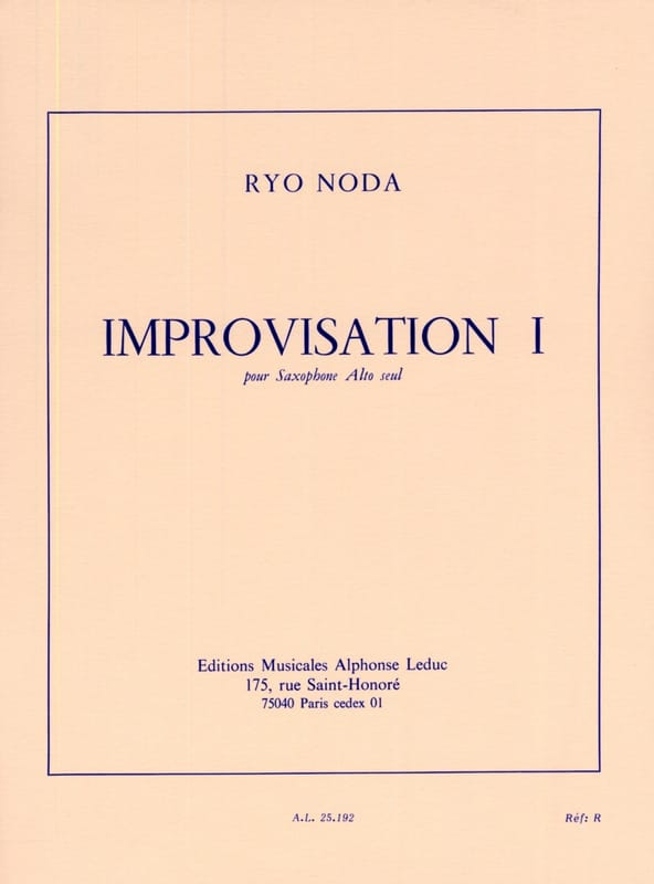 Ryo Noda - Improvisation 1 - Partition - di-arezzo.co.uk