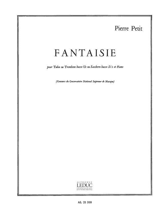 Fantaisie - Pierre Petit - Partition - Tuba - laflutedepan.com