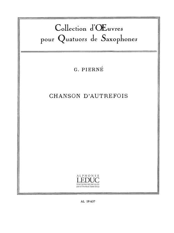 Chanson D' Autrefois - Gabriel Pierné - Partition - laflutedepan.com