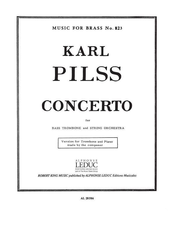 Concerto - Karl Pilss - Partition - Trombone - laflutedepan.com