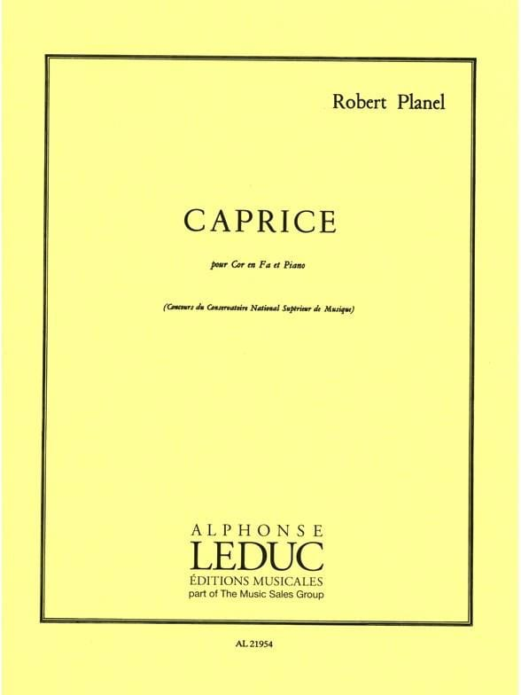 Robert Planel - Caprice - Partition - di-arezzo.co.uk